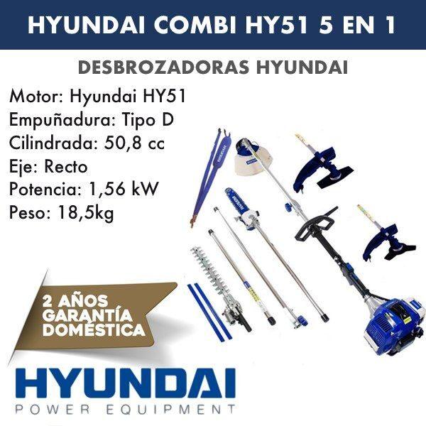 Desbrozadora combi HY51 HYUNDAI 5 en 1-1