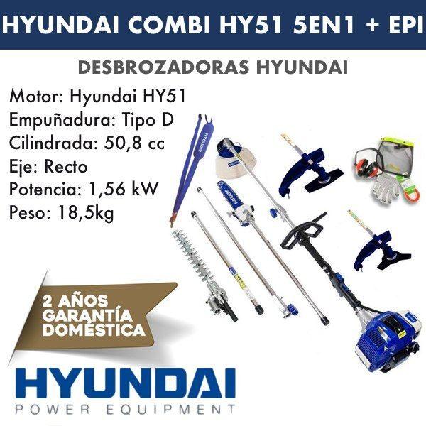 Desbrozadora combi HY51 HYUNDAI 5 en 1-2