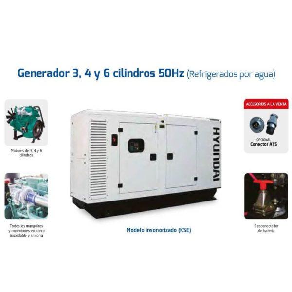 Generadores Hyundai DHY65K(S)E diesel trifásicos