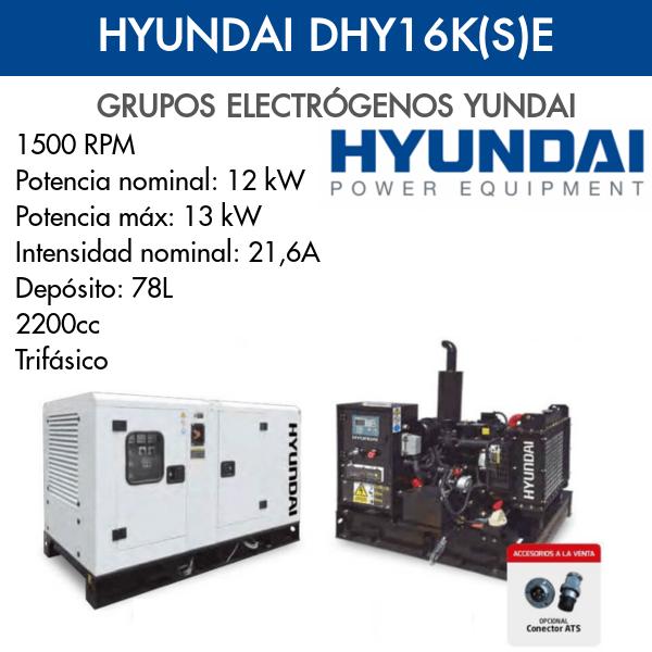Grupo Electrógeno Hyundai DHY16K(S)E