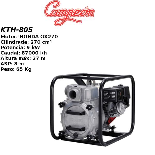 Motobomba gasolina Campeon KTH80S