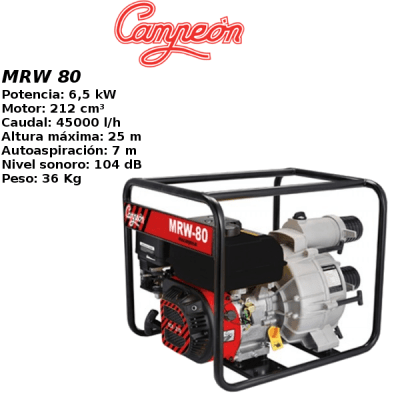 Motobomba gasolina Campeon MRW 80