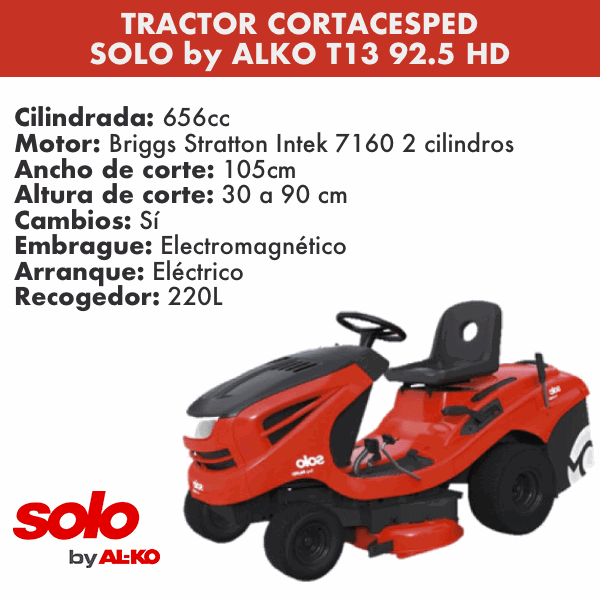 Tractor Cortacesped SOLO by ALKO T13 92_5 HD