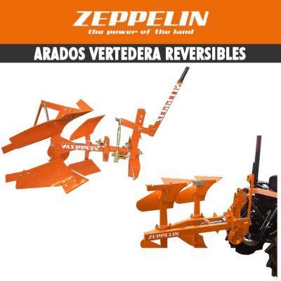 Arados de vertedera reversible