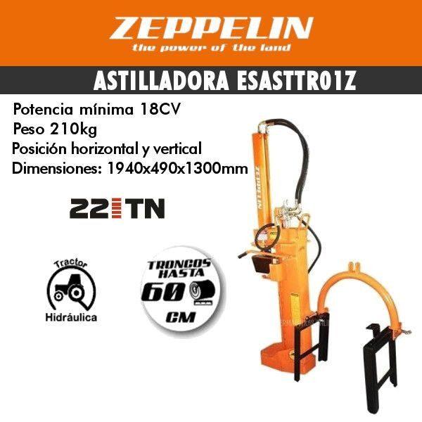 Astilladora de leña Zeppelin ESASTTR01Z