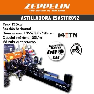 Astilladora de leña zeppelin esasttr09z