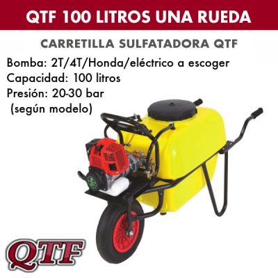 Carretilla sulfatadora QTF 100L una rueda