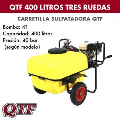 Carretilla sulfatadora QTF 400 L 3 ruedas