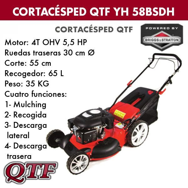 Cortacesped QTF YH 58BSDH