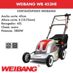 Cortacesped Weibang WB 453HE Electrico