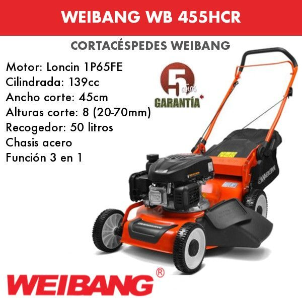 Cortacésped Weibang WB 455HCR