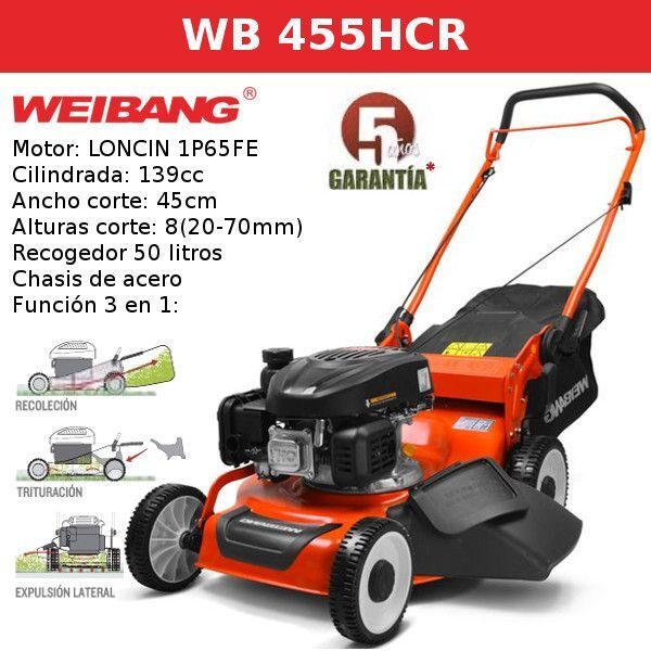 Cortacesped WEIBANG WB 455HCR