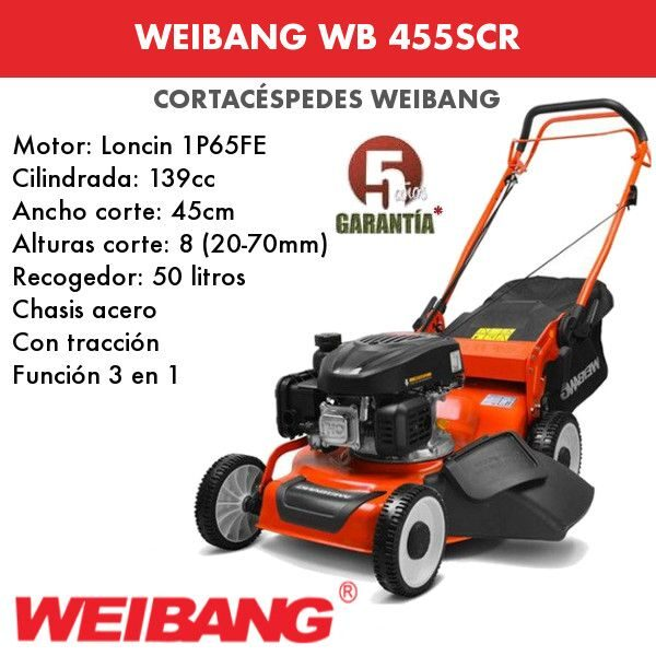 Cortacesped WEIBANG WB 455SCR