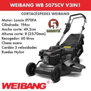 Cortacesped WEIBANG WB 507 SCV 3 EN 1