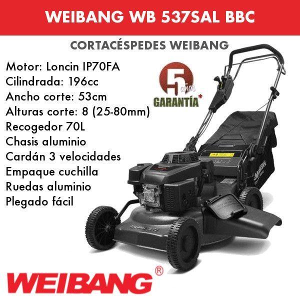 Cortacesped WEIBANG WB 537 SAL BBC
