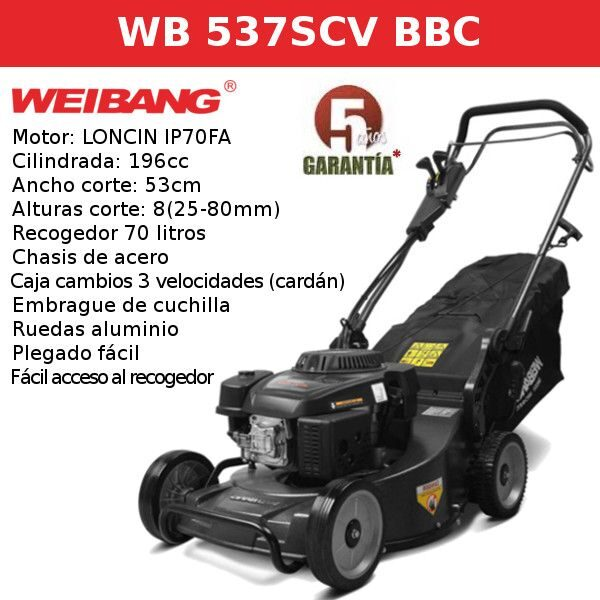 Cortacesped WEIBANG WB 537 SCV BBC