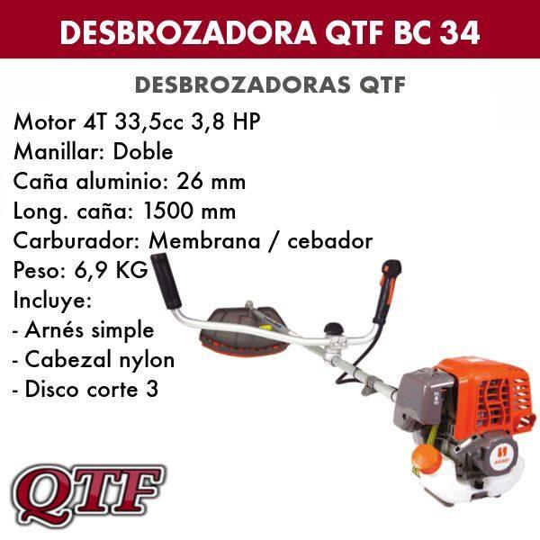 Desbrozadora QTF BC 34