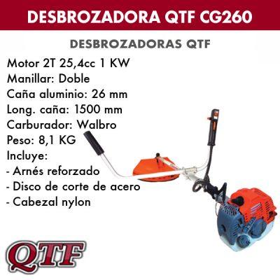 Desbrozadora QTF CG 260