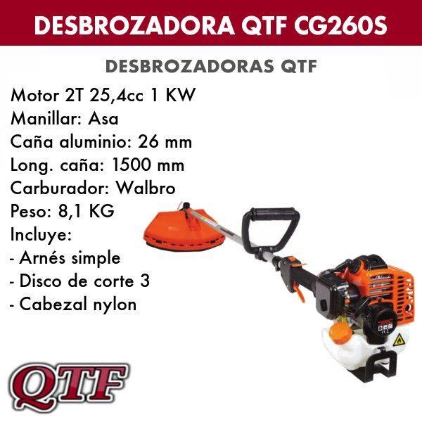 Desbrozadora QTF CG260S