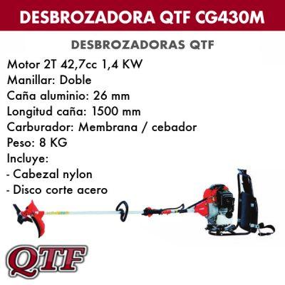 Desbrozadora QTF CG 430 M