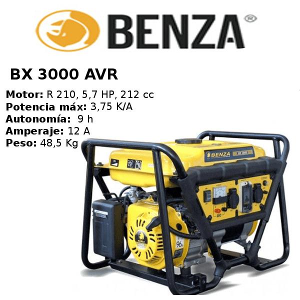 generador-compacto-benza-bx 3000 AVR