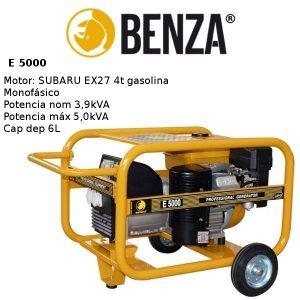Generador BENZA E 5000 motor SUBARU