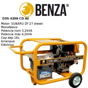 Generador BENZA EDS 4200 CD motor SUBARU Diesel A/E
