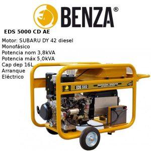Generador BENZA EDS 5000 CD motor SUBARU Diesel A/E