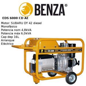 Generador BENZA EDS 6000 CD motor SUBARU Diesel A/E