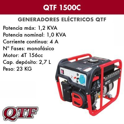 Generador eléctrico QTF 1500C