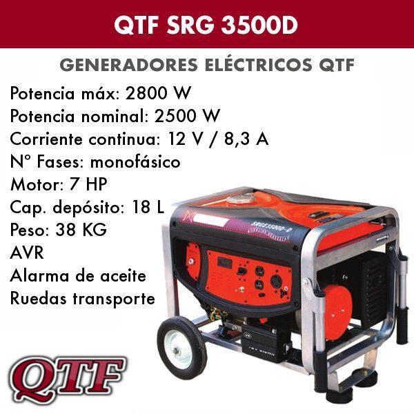 Generador electrico QTF SRG 3500 D