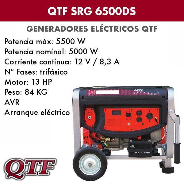 Generador electrico QTF SRG 6500 DS TRIF