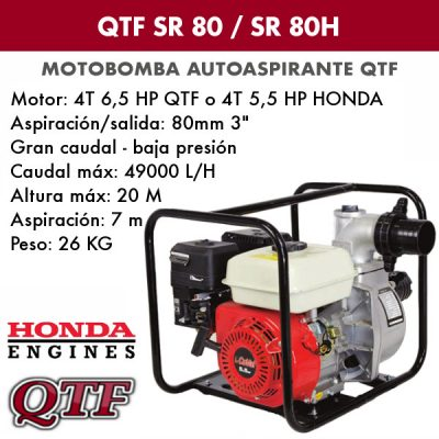 Motobomba QTF SR 80