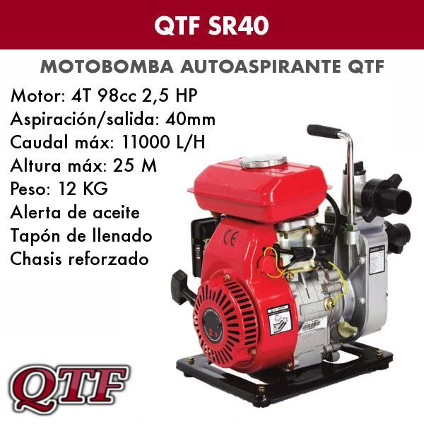 Motobomba agua QTF 4 tpos
