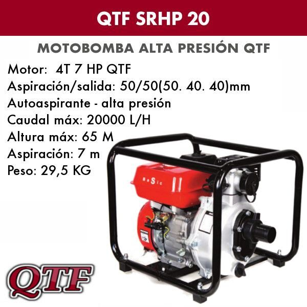Motobomba QTF SRHP 20