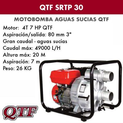Motobomba QTF SRTP 30