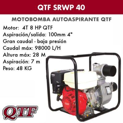 Motobomba QTF SRWP 40