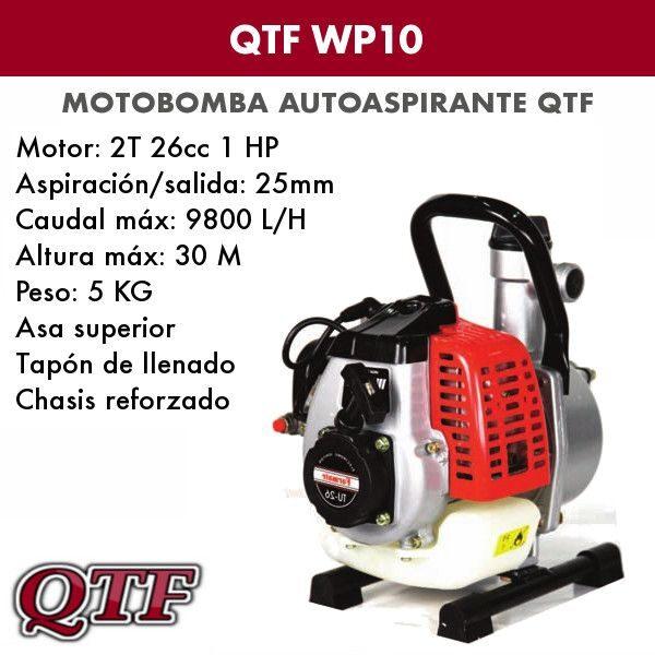 Motobomba agua QTF WP 10