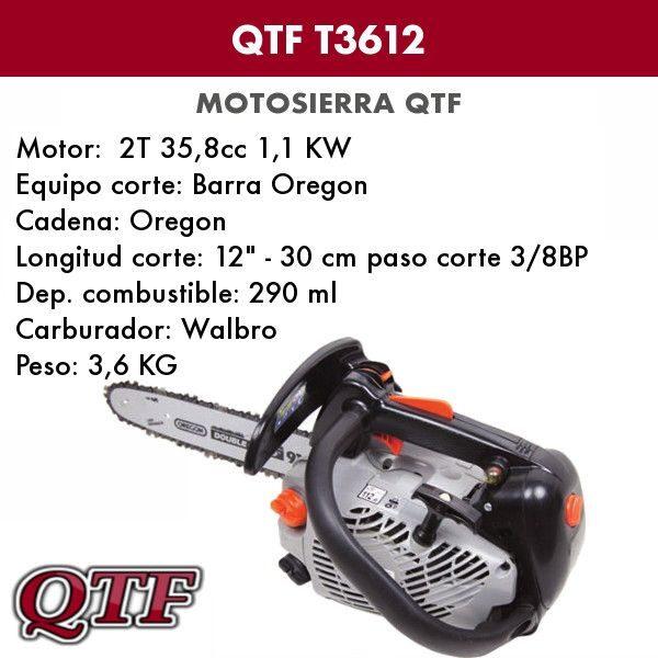 Podadora QTF profesional T3612