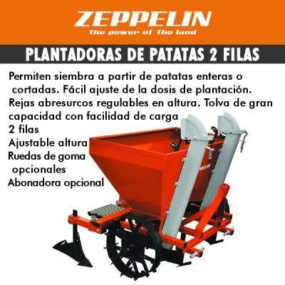 Plantadora de patatas 2 filas zeppelin