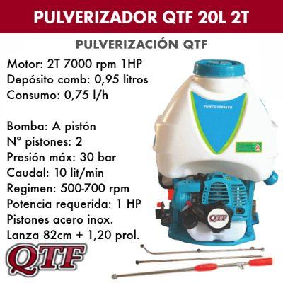 Pulverizador QTF 20lit 2 tpos