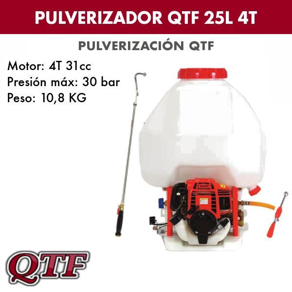 Pulverizador QTF 25L 4tpos basic