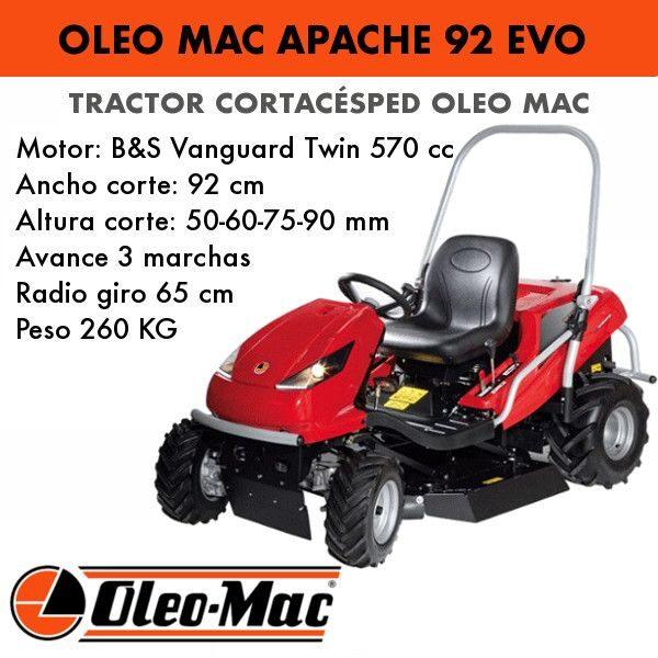 Tractor cortacesped oleo mac apache 92 evo
