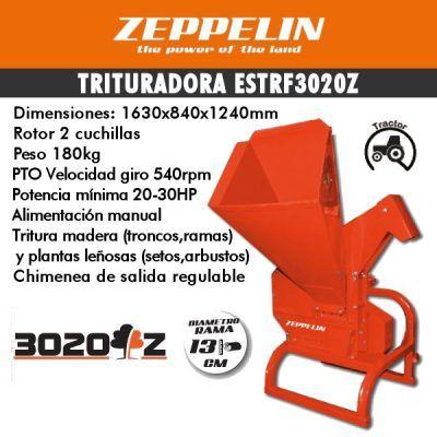 Trituradora de ramas zeppelin ESTRF3020Z