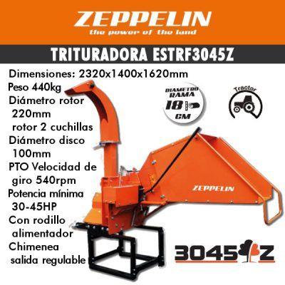 Trituradora de ramas zeppelin estrf3045z