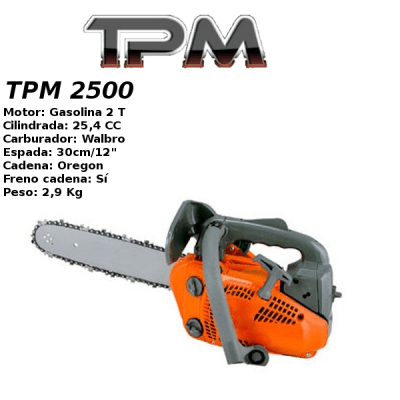 Motosierra Gasolina TPM 2500