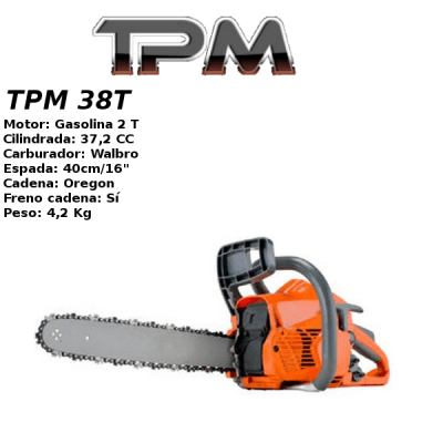 Motosierra Gasolina TPM 38T