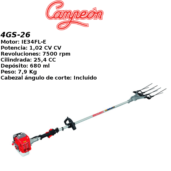 Vareadora de aceitunas Campeon 4GS-26 con motor