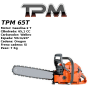 Motosierra Gasolina TPM 65T