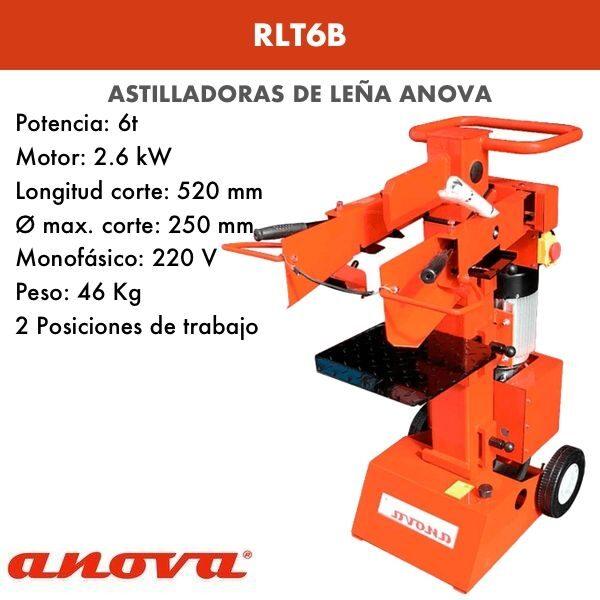 Astilladora leña Anova RLT6B
